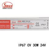 Smv-30-24 30W 24V 1.2A imprägniern IP67 Stromversorgungsgerät mit stabilisierter Ausgangsspannun