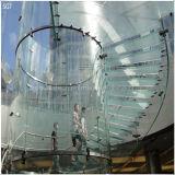 De hitte doorweekte het Duidelijke Aangemaakte Geharde Glas van de Leuning van de Trede