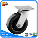 Rodízio de borracha resistente da roda da placa do giro de 6 x 2 polegadas