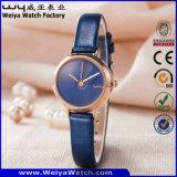 Montre-bracelet de dames de quartz de cuir de mode d'ODM (Wy-133C)
