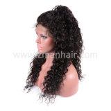 Cor Natural longa Virgem brasileira de cabelo humano Perucas