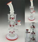 """12"""" Quad Perc боросиликатного стекла курения трубки"""