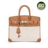 Nuovo sacchetto di spalla del progettista della borsa delle donne del cuoio genuino di arrivo con la serratura Emg5193