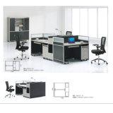 Bureau de l'armoire d'utilisation populaire 4 personnes Station de travail avec chaise