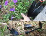 4PCS 원예용 도구 세트, 흙손, 레이크 및 잘라내는 것은 가위로 자른다