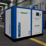 compresseur d'air direct stationnaire de vis de 55kw 75HP (air refroidi)
