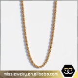 Missjewelry 18Kの金のネックレスモデル、デザイン20グラムの金のネックレス