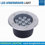 Gekennzeichnetes Produkt der Leistungs-LED im Freien des Garten-12W Tiefbaulicht