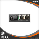 Conversor 1X 100Base-FX dos media a 2X 10/100Base-T RJ45 com SC 20km BIDI de T1550/R1310nm