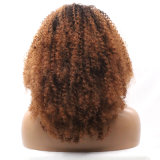 Dlme 브라운 비꼬인 꼬부라진 레이스 정면 Syntheic 머리 가발