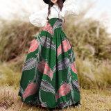 Longue jupe de cire impression de la peinture florale africaine Élevée-Waisted la plus neuve d'abrégé sur