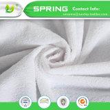 Protector de colchão impermeável Terry toalha não noisy com fibras de algodão natural