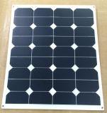 painel solar flexível de 60W Sunpower, caixa de junção impermeável na parte traseira