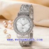 Montre de dames nommée faite sur commande d'acier inoxydable d'ODM de montre (WY-G17007B)