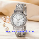 Nombre personalizado reloj ODM de acero inoxidable Reloj de dama (WY-G17007B)