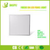 luz de painel quadrada do diodo emissor de luz 48W de 600X600mm com projeto da iluminação lateral