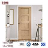 Porta branca do abanador com interior ou exterior de madeira da porta do Teak de 6 painéis