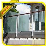 ホテルのための階段バルコニーの和らげられたか、または薄板にされたガラスおよびセリウム、CCC、ISO9001とのショッピング