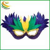 マスカレードのためのリオ謝肉祭の羽の目マスクのピンク