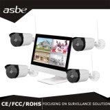960p 4CH 무선 NVR 장비 붙박이 10.1 인치 스크린 도난 방지 시스템 IP CCTV 사진기