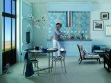 Azul 4X8 pulgadas/10x20cm cristal biselado brillante de la pared cerámica mosaico Metro baño cocina Decoración