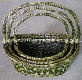 Willow cestas para el almacenaje de Navidad