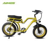 Venta caliente neumático Fat Beach Cruiser E Bicicleta con asiento doble para dos personas.