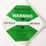 Clip auto-adhésif d'avertissement fragile antivibration d'indicateur de choc