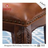 Chaise de salle à manger en cuir (AB232)