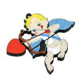 Movimentação da pena da seta do Cupid dos desenhos animados