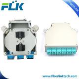 6/12 Sc 이중 단순한 DIN 가로장 광섬유 결합 배급 상자