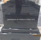 De zwarte Grafsteen van het Graniet