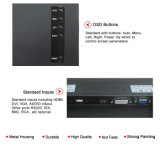 開いたフレーム24inchのタッチ画面HDMIのモニタ(MW-241MET)