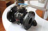 Il acciaio al carbonio Wcb 150lb 2PC ha flangiato valvola a sfera