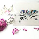 Autoadesivi sicuri di Tatto del fronte dei gioielli degli autoadesivi dell'occhio del partito della pelle professionale del Topaz di Hong Kong (E01)