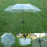 3 접히는 투명한 우산을 인쇄하는 고품질 관례