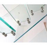 Galss Geländer-Glasjobstep-gerades Treppenhaus