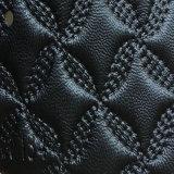 Cuoio sintetico dell'unità di elaborazione Microfiber del PVC di alta qualità per il sofà (HS-QF01)