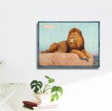 Pintura al Óleo de lienzo de animales de la imagen de la pared con marco