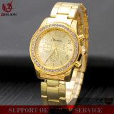 Yxl-634 de gouden Horloges van de Vrouwen van de Band van het Netwerk van de Legering van Genève van de Horloges van Mannen