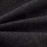 Nouveau design 100 % polyester Tissu de la sellerie tissu avec aspect lin nontissé