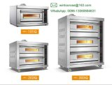 Industrieel Commercieel Gas Twee Dek Vier van het Roestvrij staal de Oven van de Pizza van het Dienblad