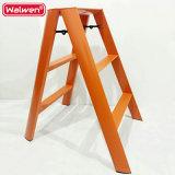 小さく、軽量の二重ステップ梯子、アルミニウム梯子の椅子、折る世帯の梯子