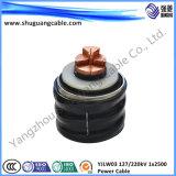 Силовой кабель низкого галоида дыма свободно стальной бронированный