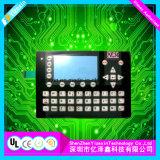 Tipo de tela plana do teclado de comando da membrana personalizada