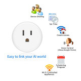 Arbeit mit Amazonas Alexa wir Standardintelligente Kontaktbuchse Wi-FI