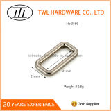 袋のためのワイヤーによって形作られる銃金属の正方形の長方形の鉄のリングのバックル