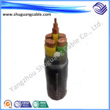 Multi-Cores 12/20kv isolation en polyéthylène réticulé de bandes en acier gainé PVC blindés de câble d'alimentation