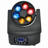 Indicatore luminoso mobile della testa LED dello zoom 6PCS 12W LED della lavata del fascio dell'occhio dell'ape di Gbr mini