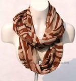 Brown mince Geometic bambou naturel imprimé foulard (Hz51)